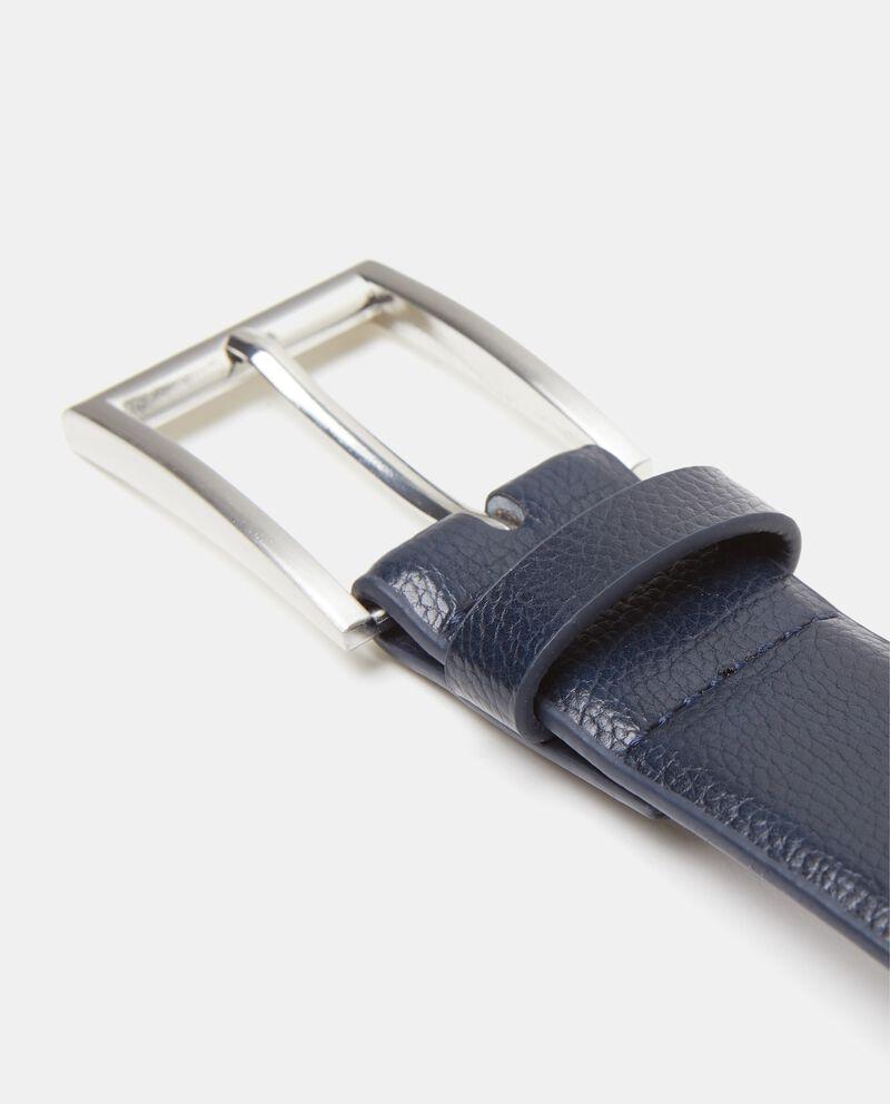 Cintura blu effetto similpelle saffiano uomo