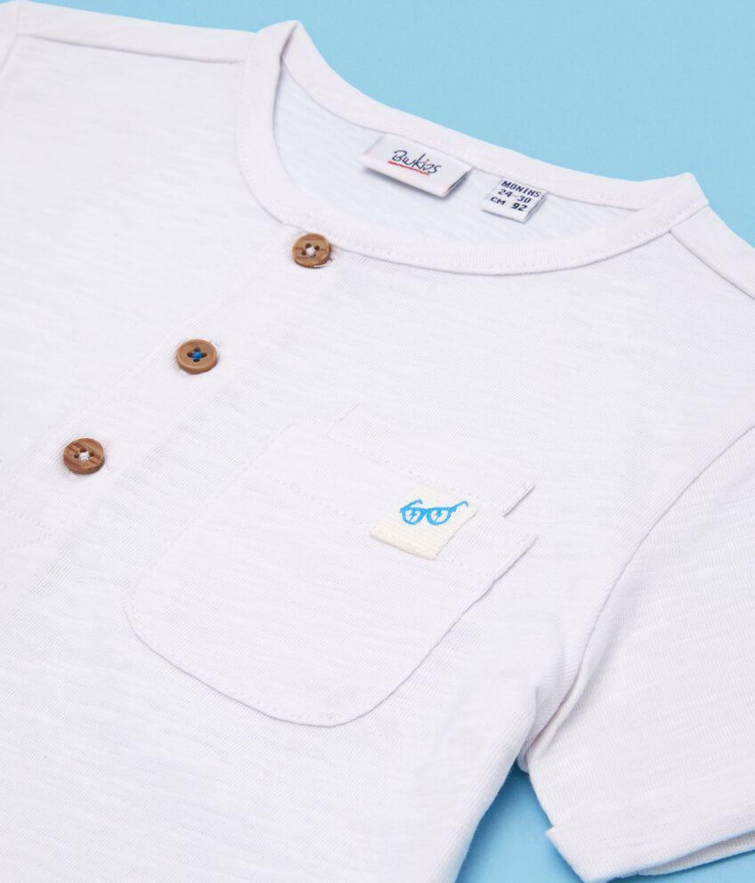 T-shirt con bottoni in puro cotone neonato