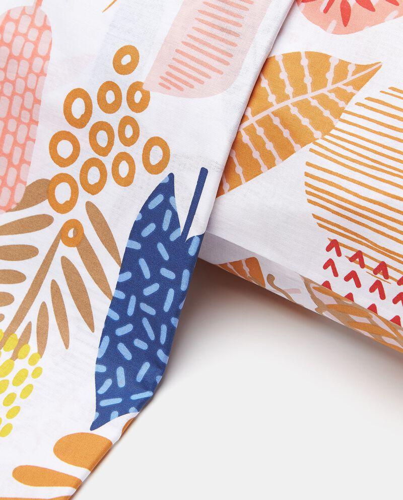 Lenzuolo con stampa tropical in puro cotone