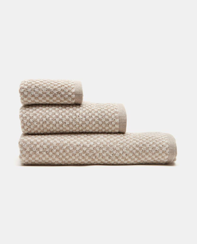 Asciugamano ospite a quadri in puro cotone