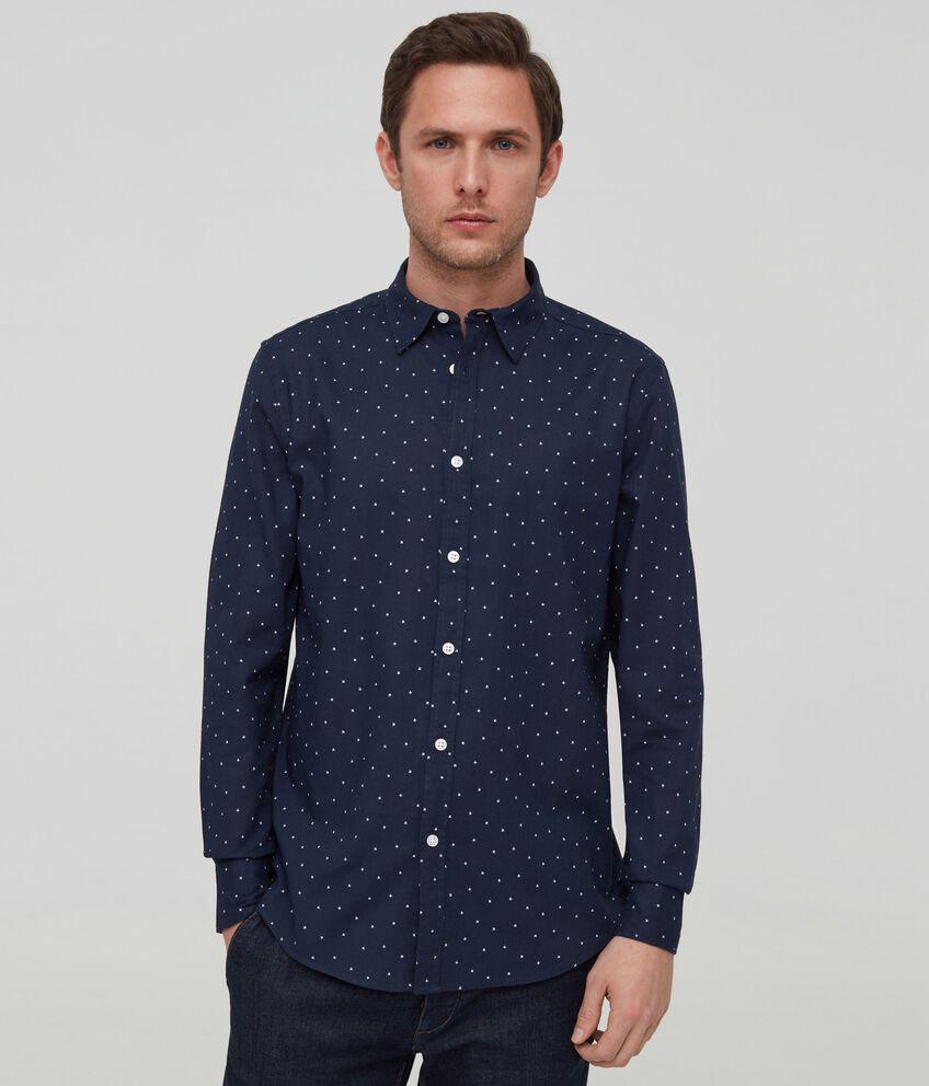 Camicia in lino e viscosa fantasia