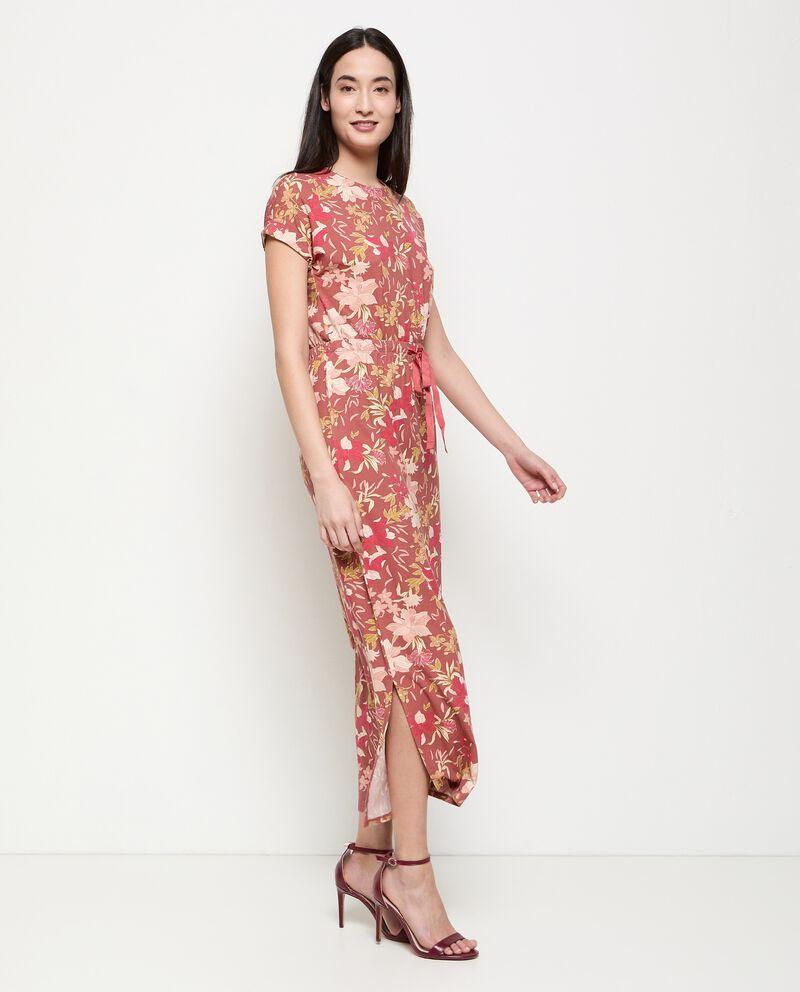 Vestito in viscosa stretch stampato donna cover
