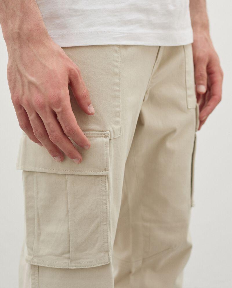 Pantaloni cargo di cotone stretch uomodouble bordered 2