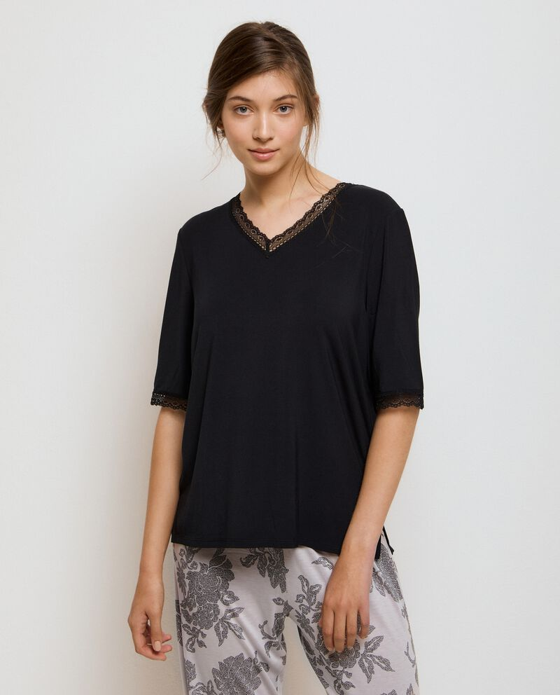 Maglia pigiama in modal stretch donna cover
