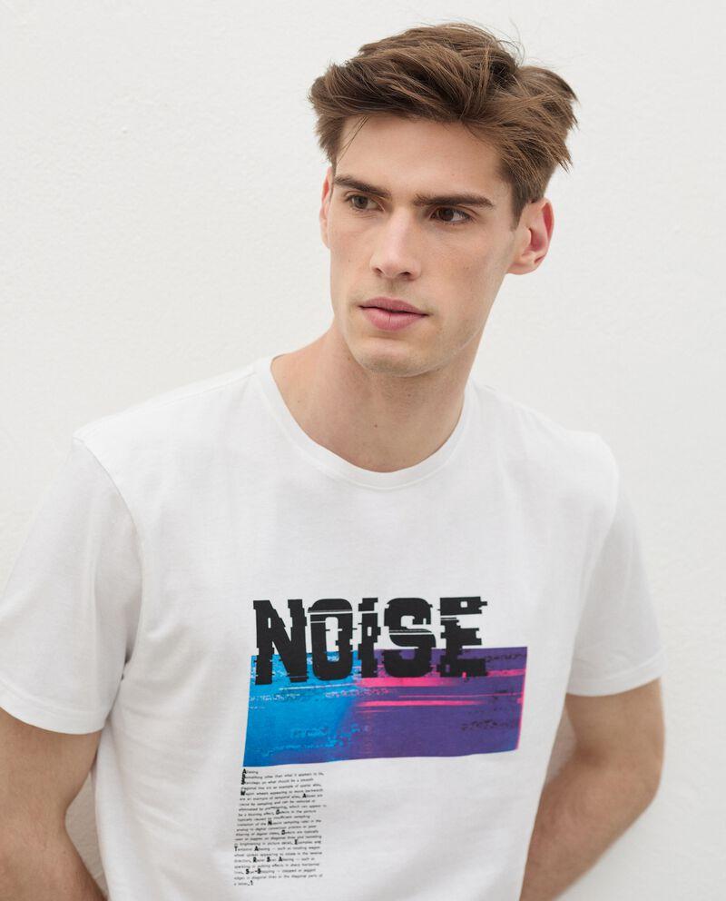T-shirt in cotone organico con stampa uomo single tile 2