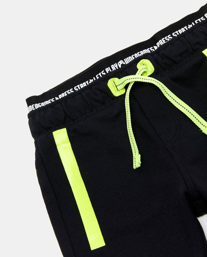 Joggers in puro cotone con doppia vita elasticizzata neonatodouble bordered 1