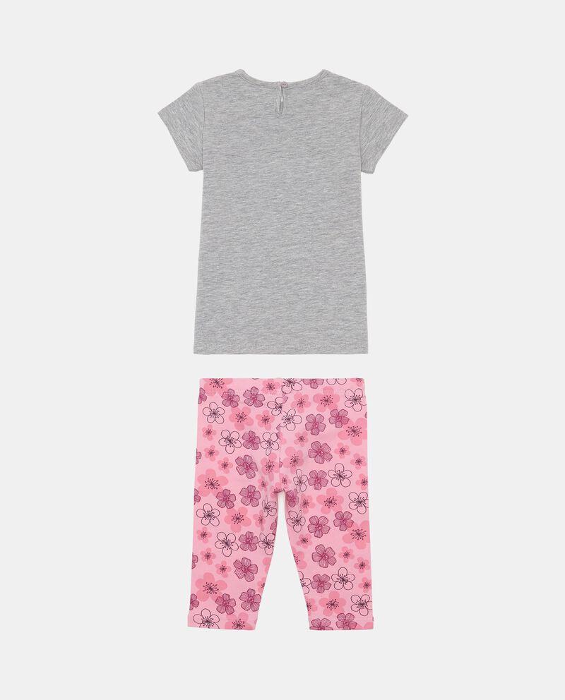 Completo t-shirt con stampa e shorts