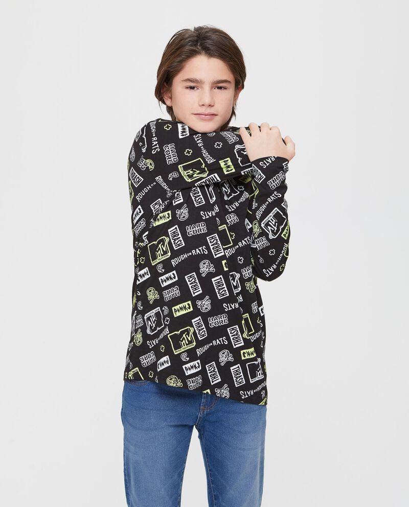 T-shirt maniche lunghe fantasia MTV