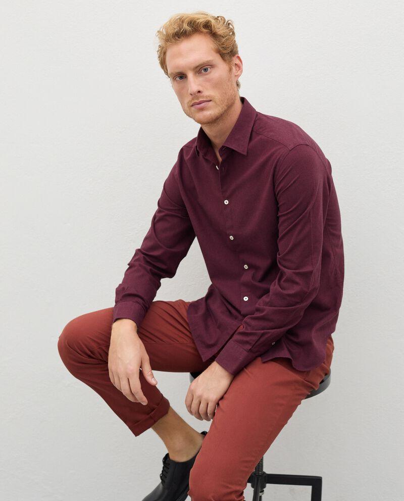 Camicia in flanella tinta unita uomo cover