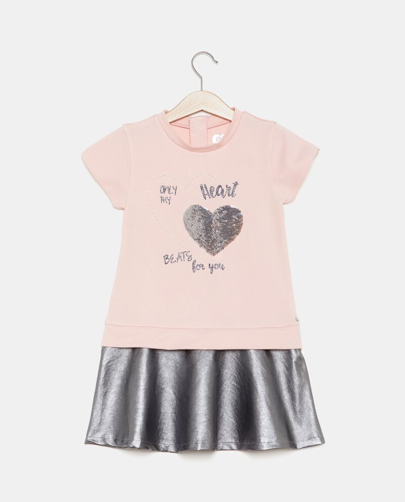 Vestito con gonna metallizzata bambina
