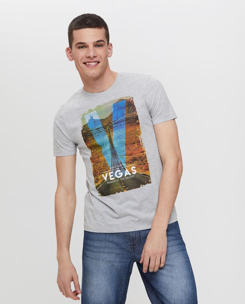 T-shirt mélange stampa Las Vegas
