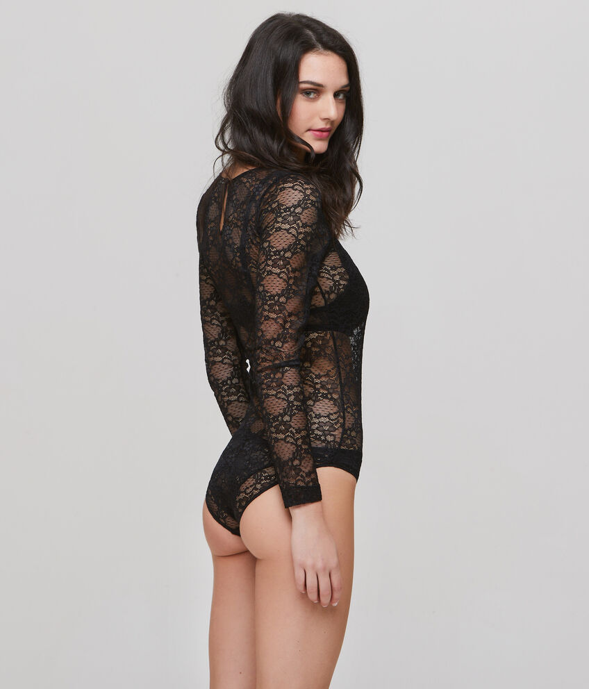 Body intimo in pizzo stretch