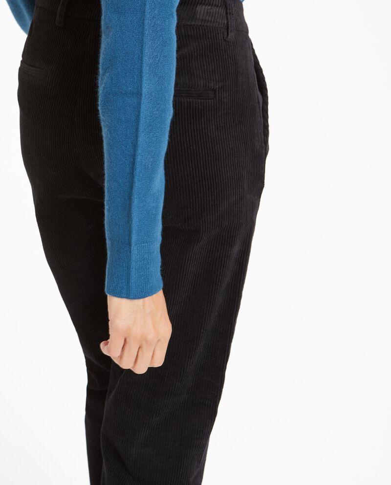 Pantalone effetto velluto donna