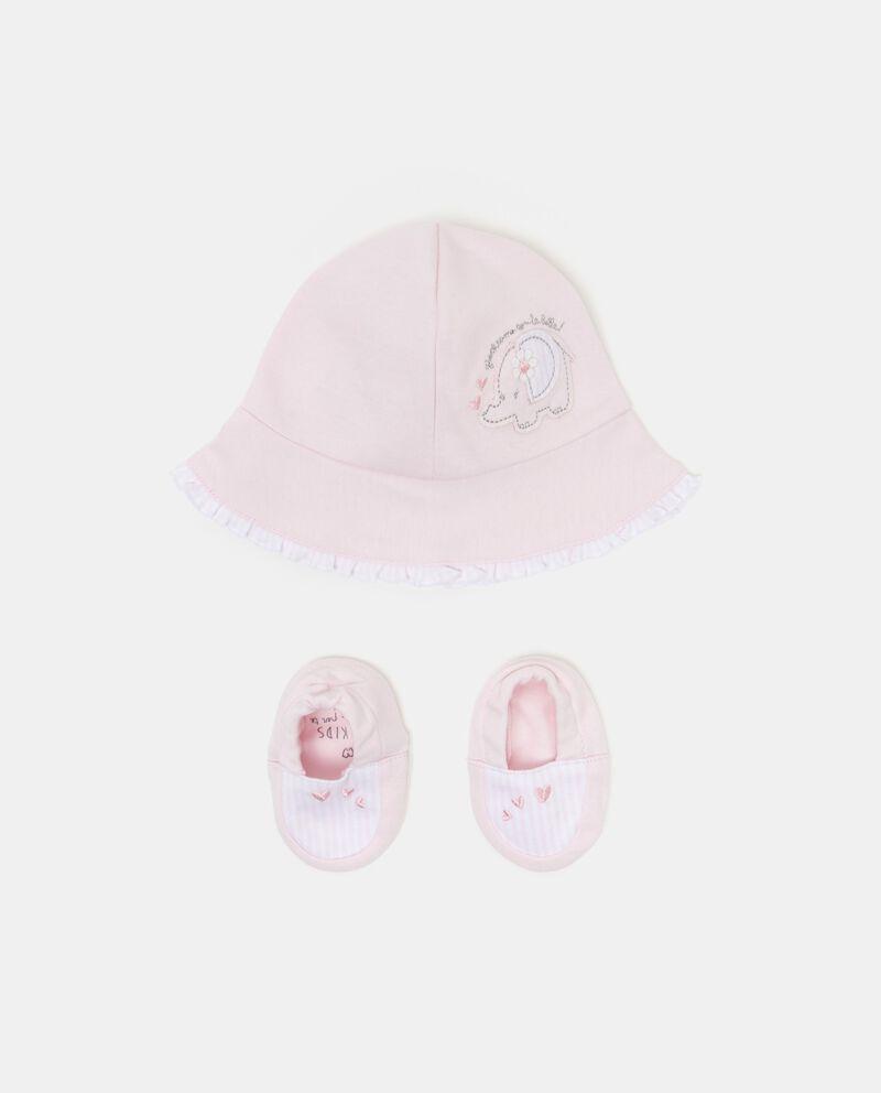 Set cappellino e scarpe neonata