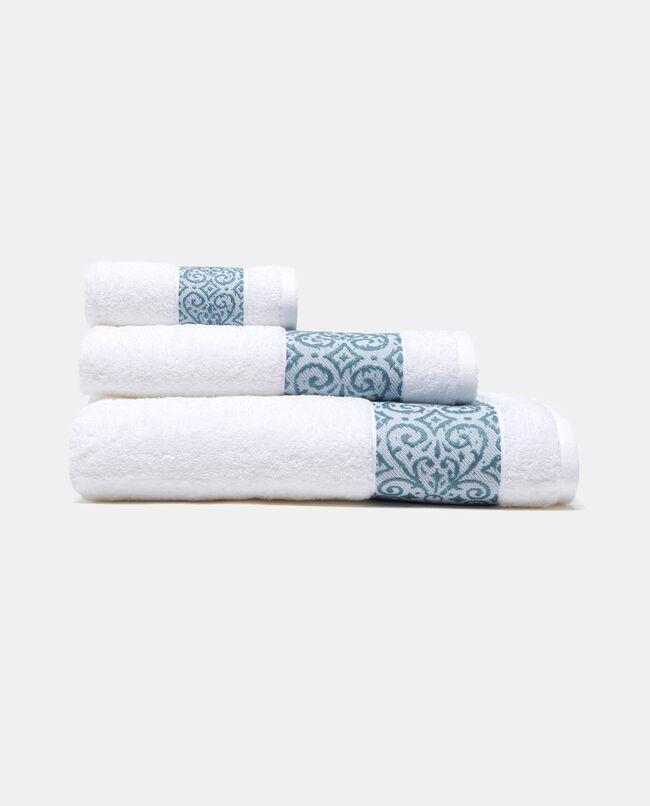 Asciugamano con bordo arabesque