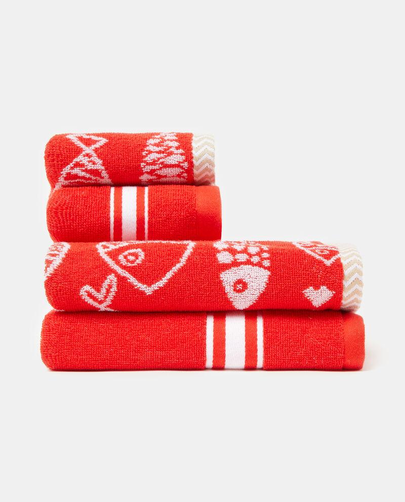 Set quattro asciugamani con decori