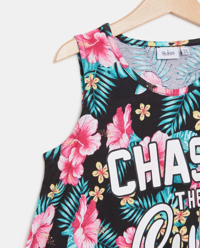 Vestito con fantasia tropicale ragazza