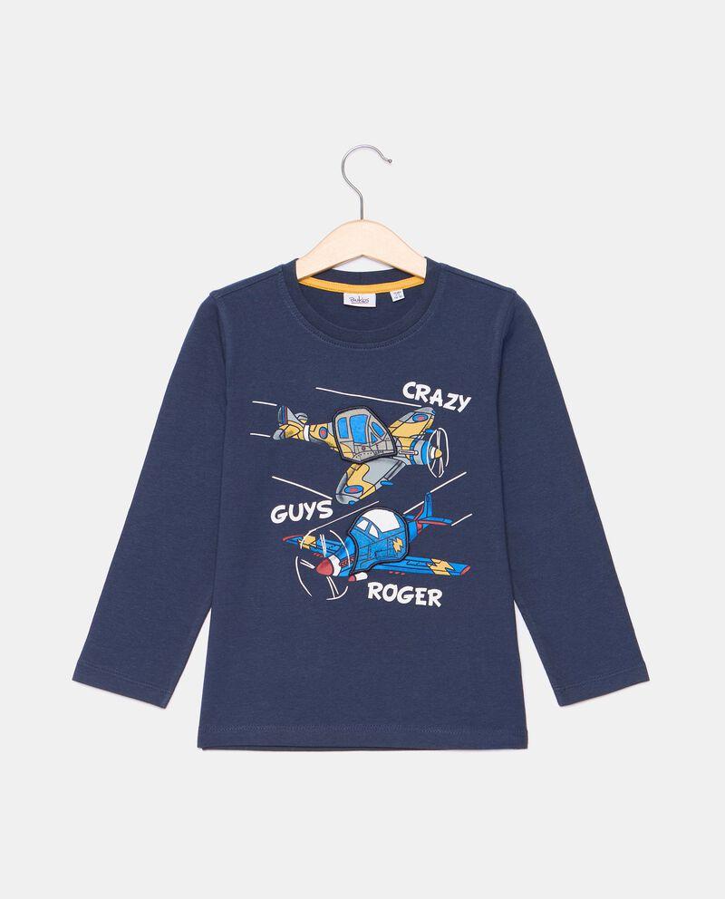 T-shirt di cotone organico con stampa bambino cover