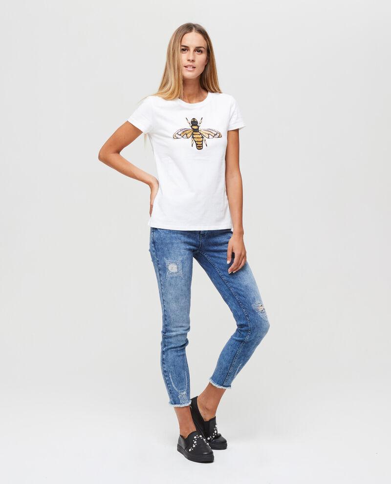 T-shirt con ricamo motivo ape