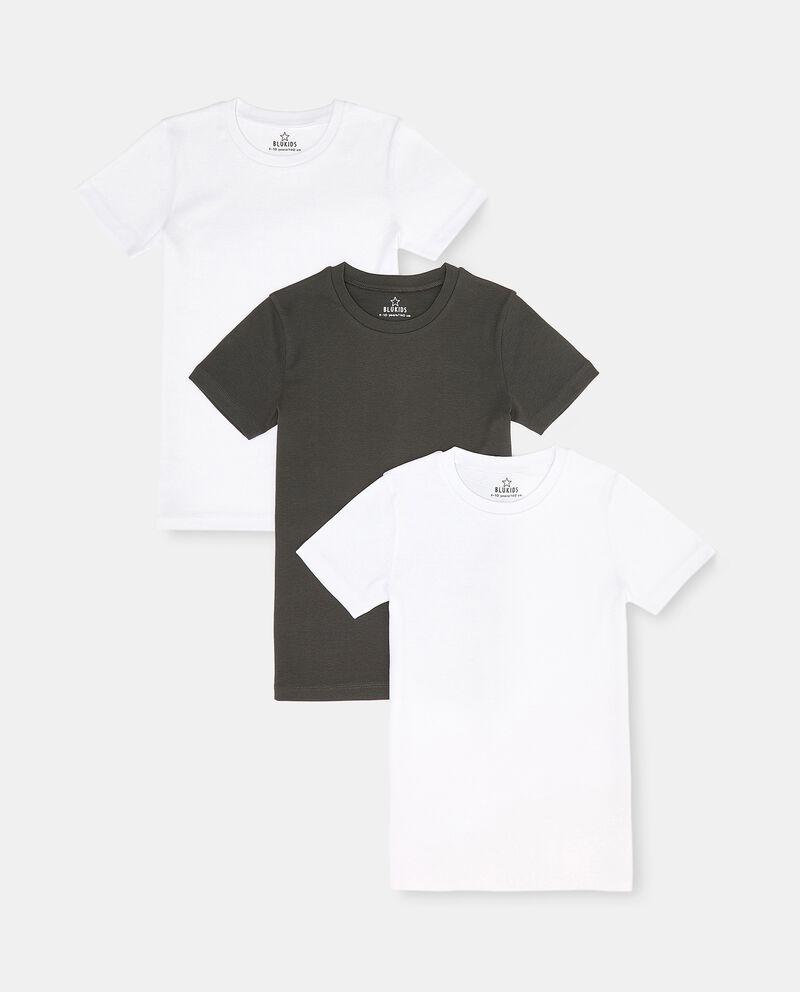 Set con 3 t-shirt intime puro cotone biologico ragazzo cover