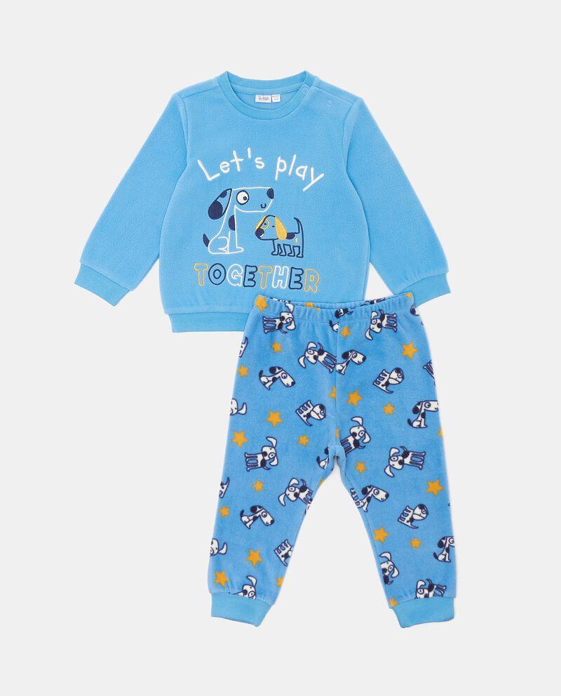 Set pigiama con maglia e pantaloni in pile neonato