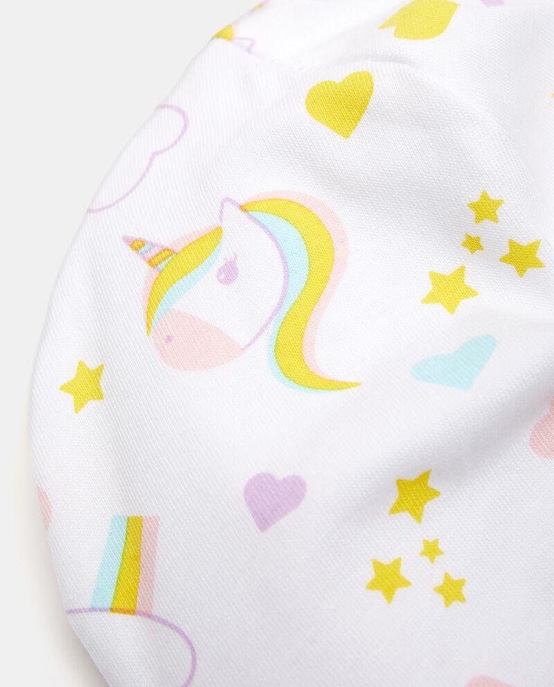 Berrettino con fantasia di cotone elasticato neonata
