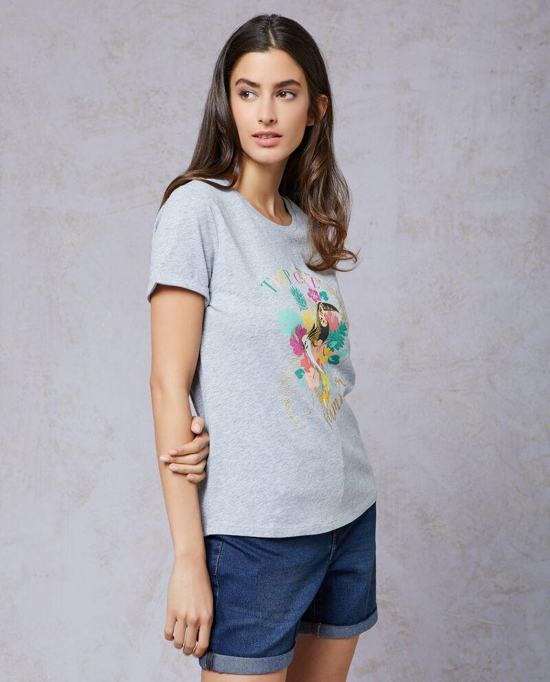 T-shirt in cotone stampata donna