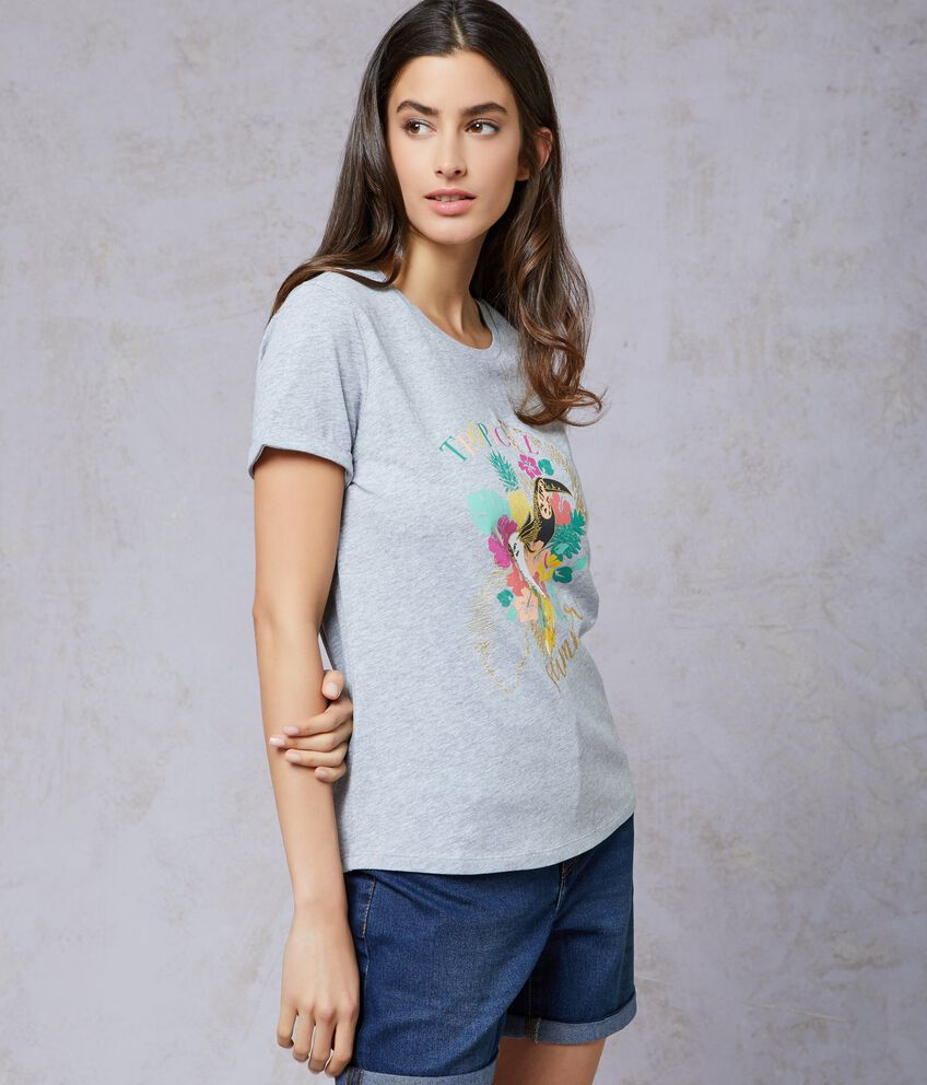 T-shirt in cotone stampata donna