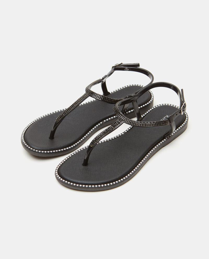 Sandalo basso con strass cover