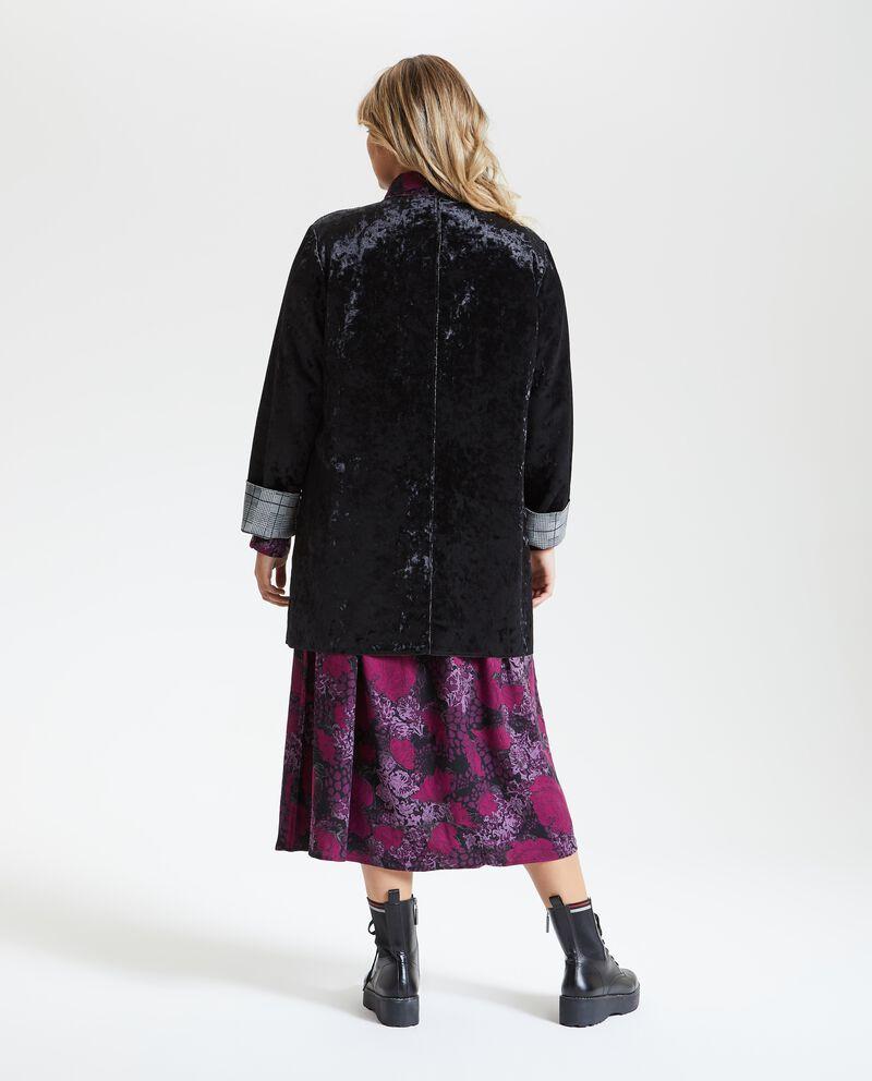 Cappotto effetto velluto donna