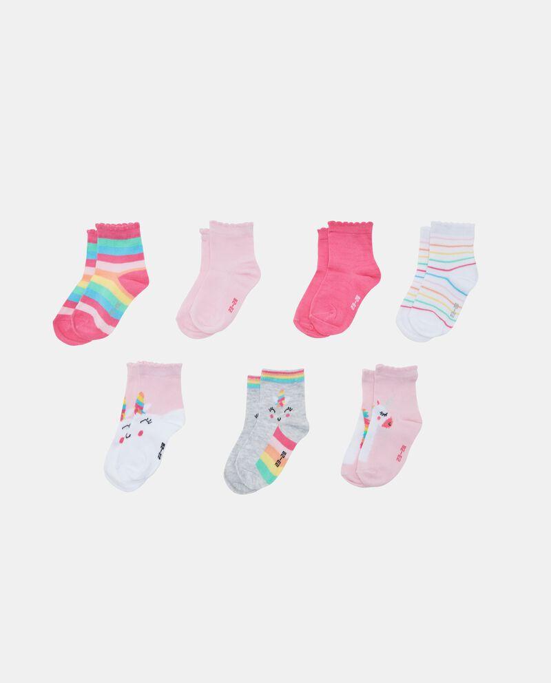 Seven pack calzini corti bambina