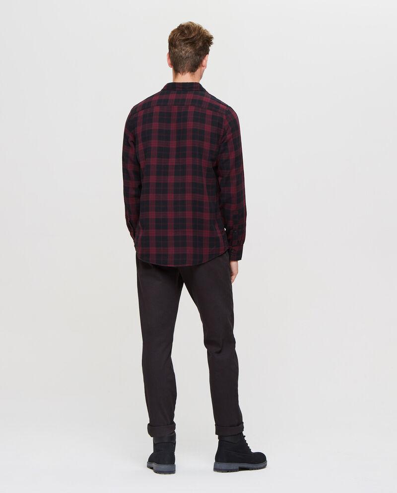Camicia casual con taschino a quadri