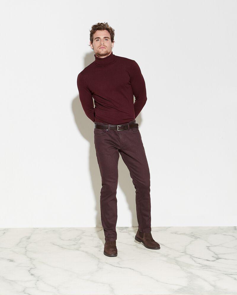 Jeans regular fit in tinta unita uomo