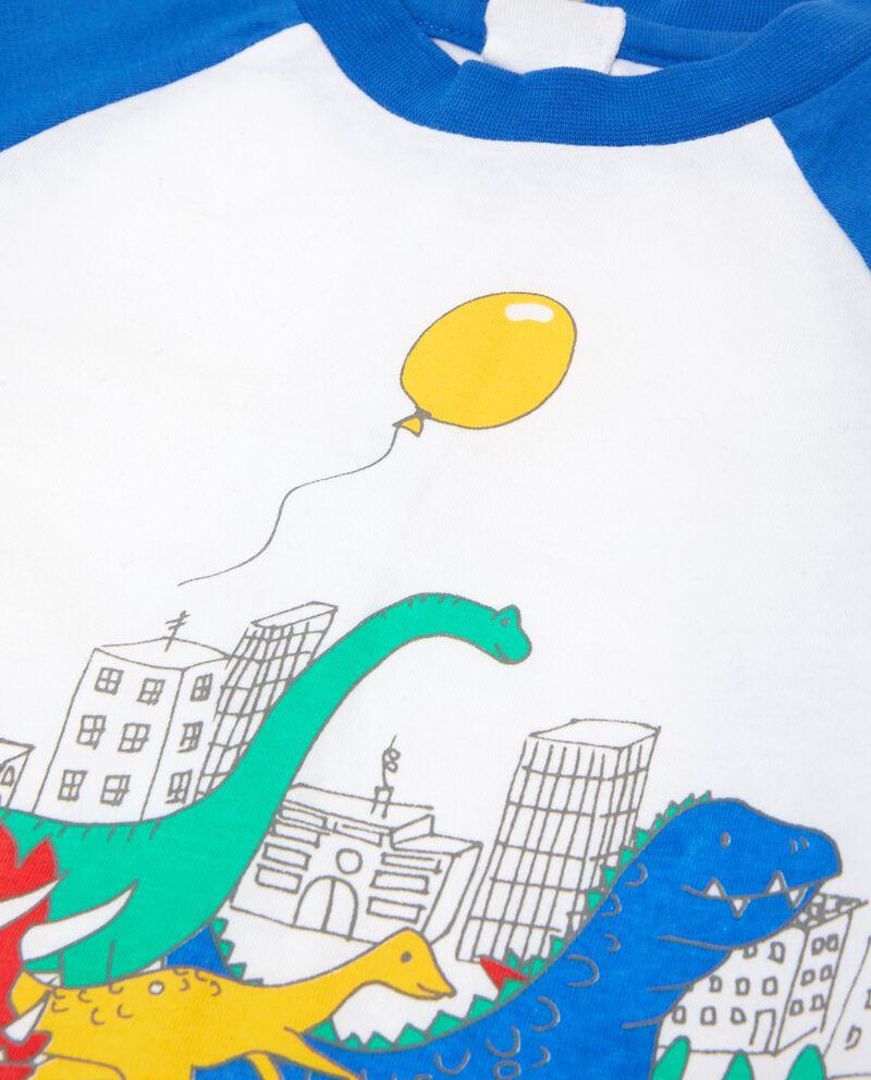 Tutina stampa dinosauri in puro cotone neonato