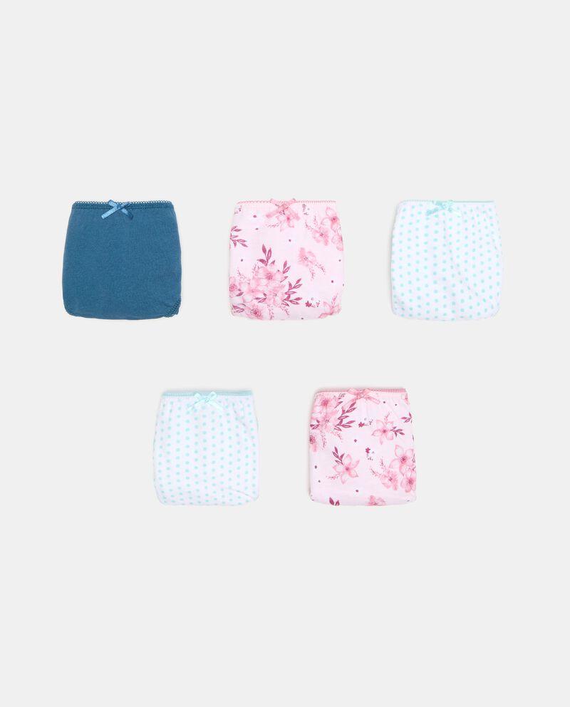 Pack con 5 slip di cotone organico ragazza cover