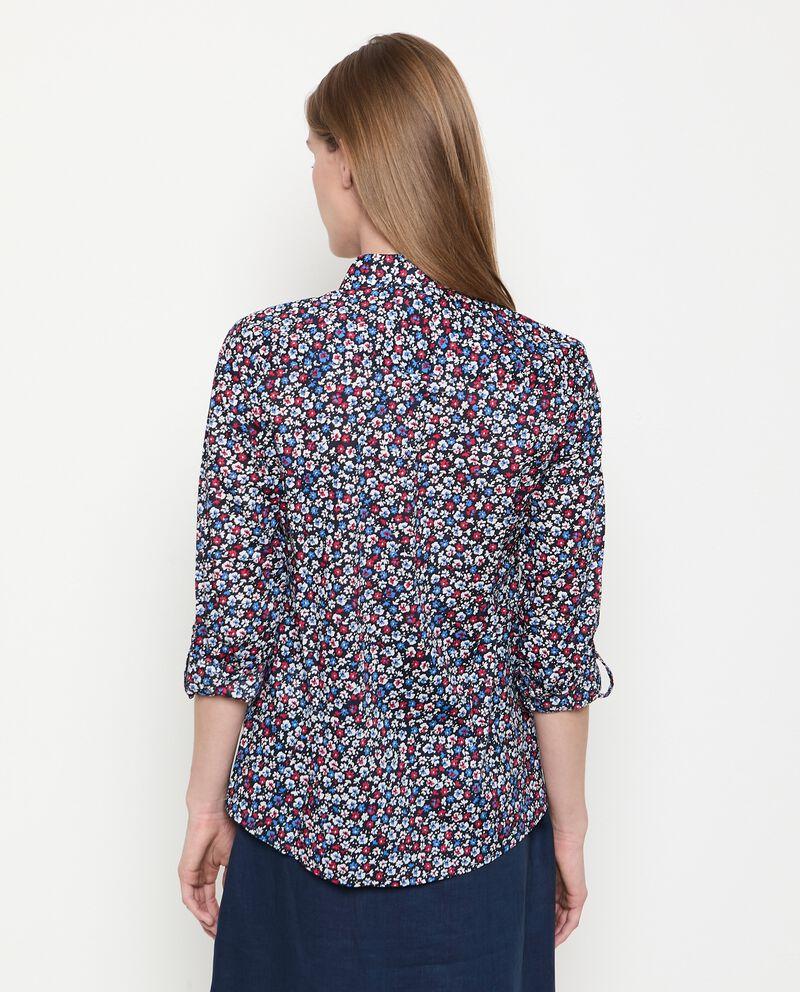 Camicia stampa floreale in puro cotone donna