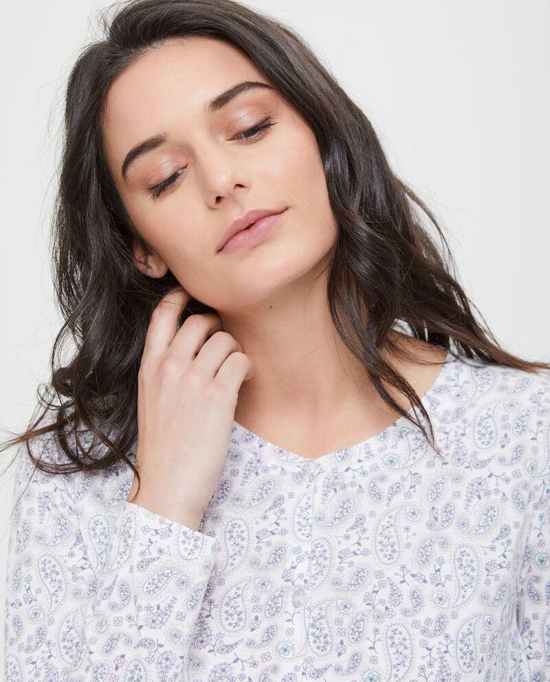 Camicia da notte con bottoni paisley