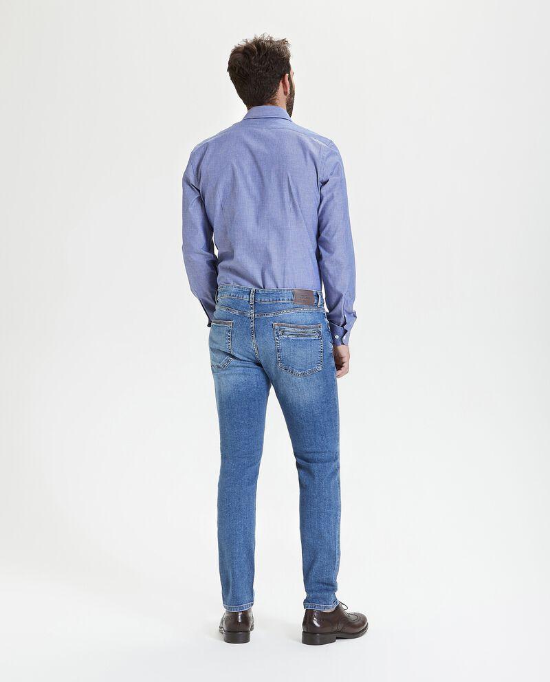 Jeans slim effetto ruined uomo
