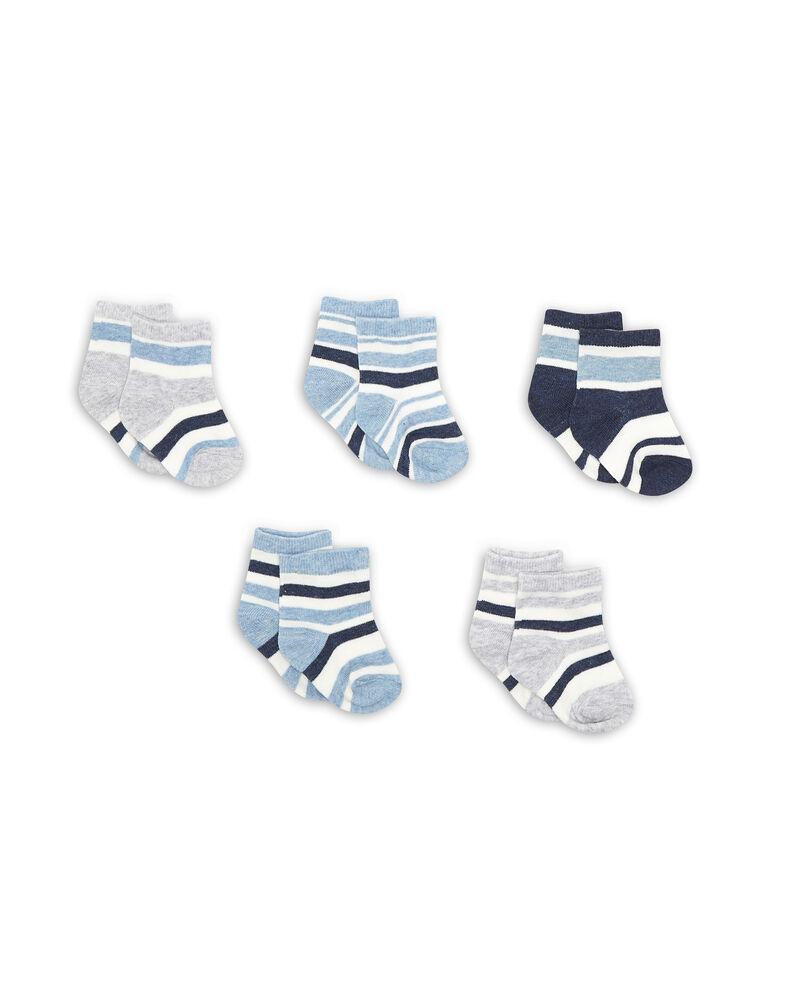 Set cinque paia di calze a righe