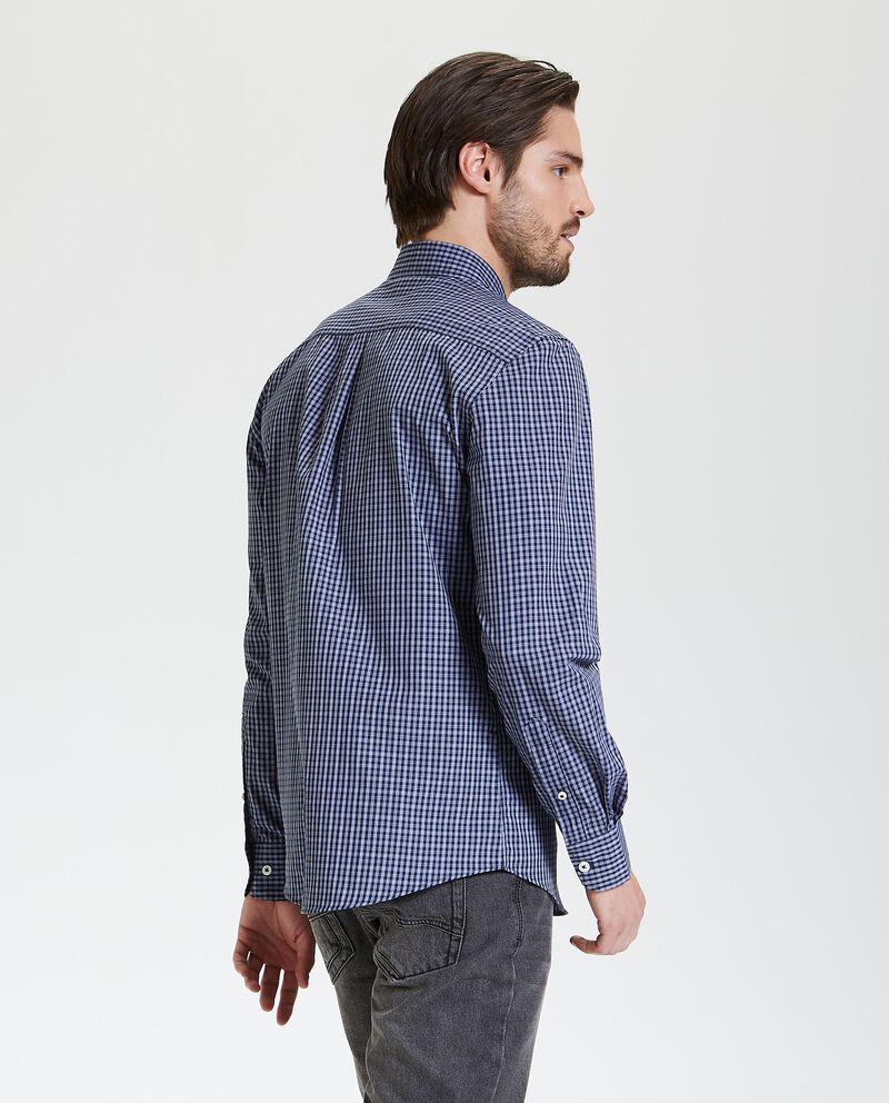 Camicia a quadri con maniche lunghe uomo