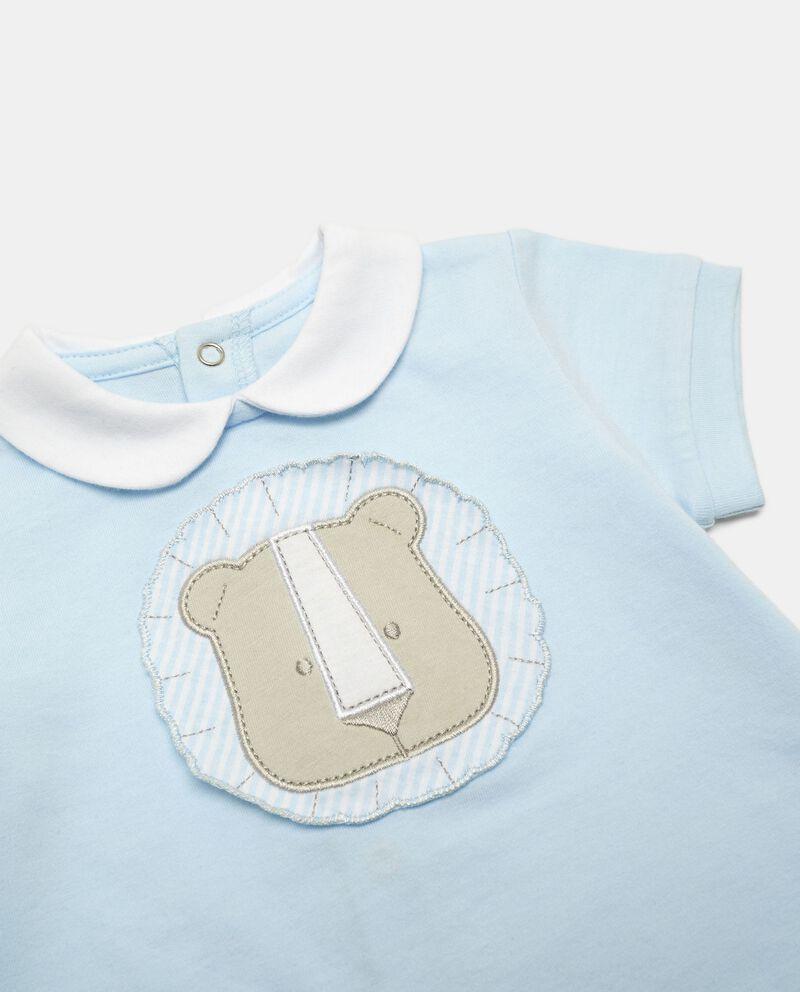 Pagliaccetto cotone patch orsetto