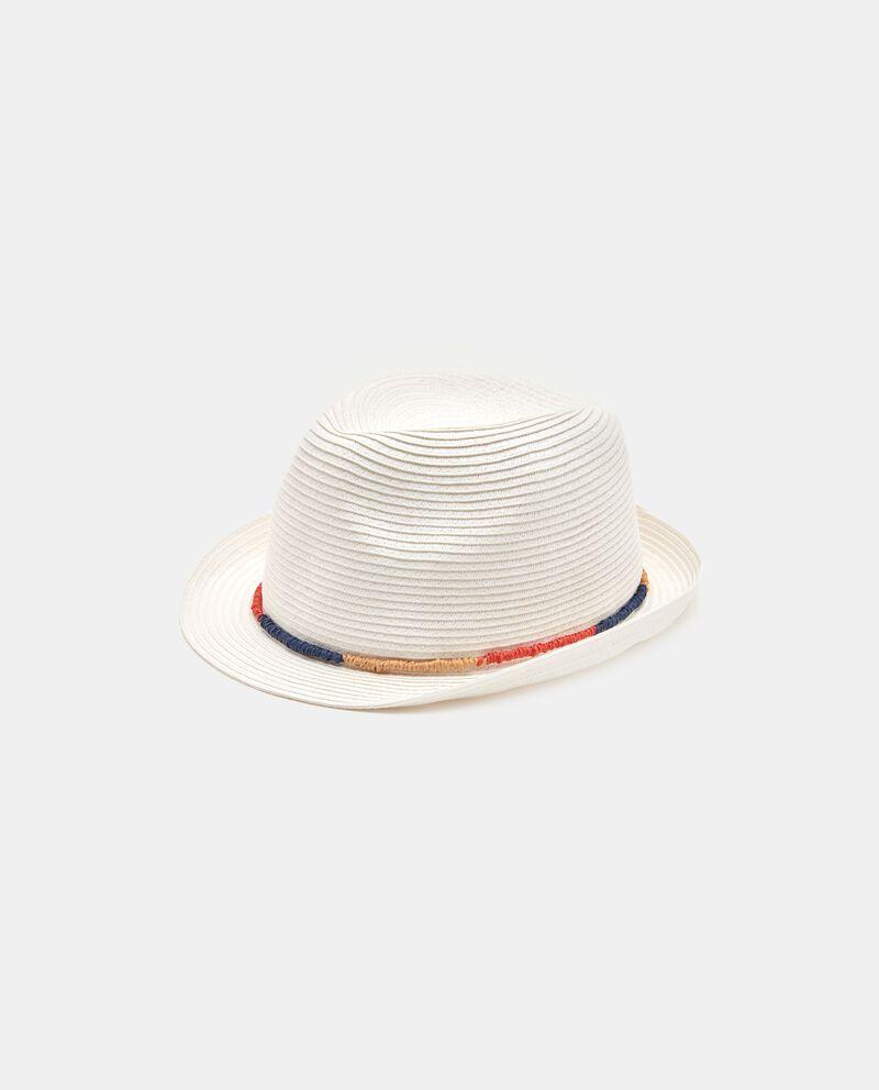 Cappello panama con cordino uomo