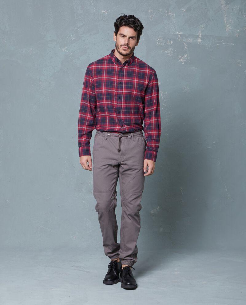 Pantaloni in puro cotone vita elasticata