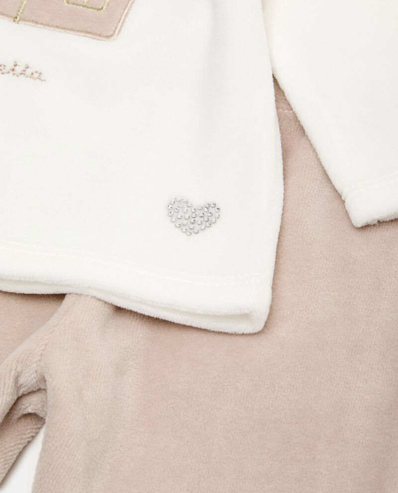 Set con maglia e pantaloni di cotone biologico single tile 1
