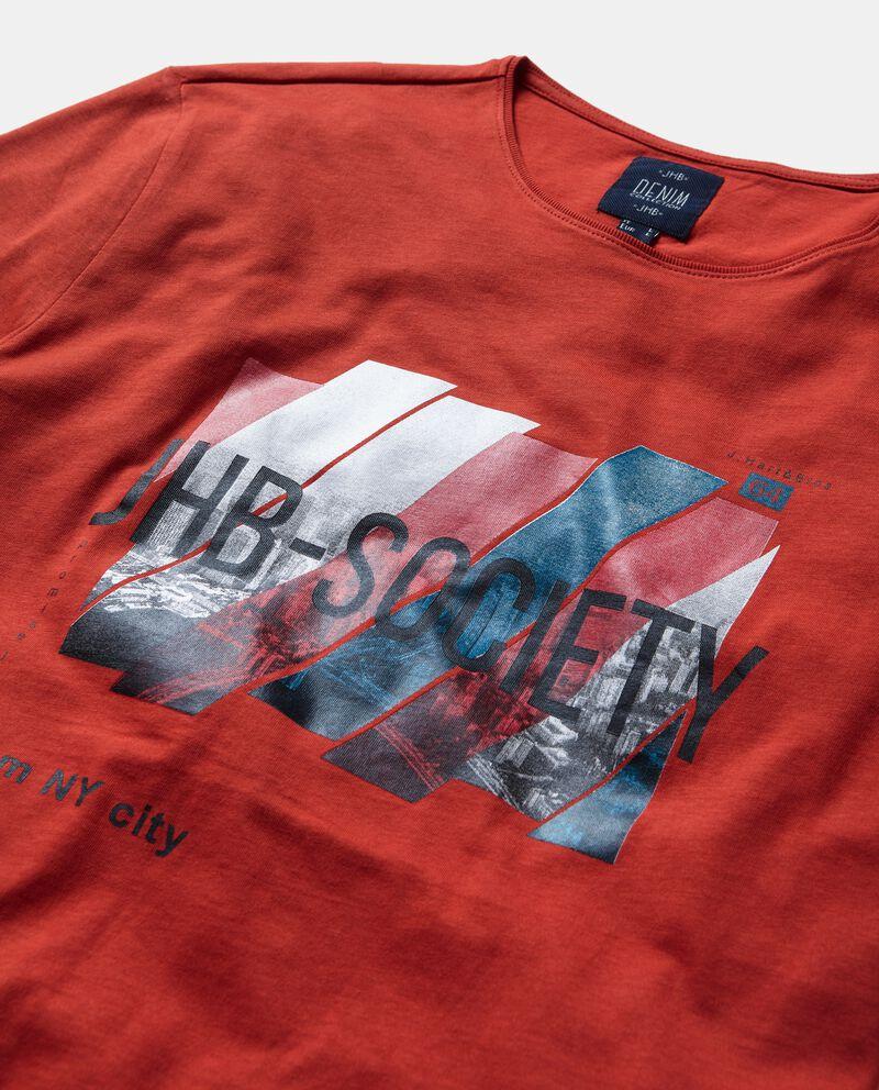 T-shirt con stampa puro cotone uomo