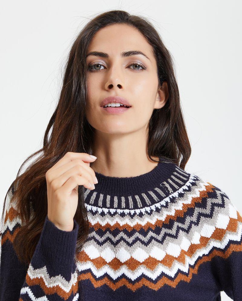 Pullover con fantasia geometrica donna