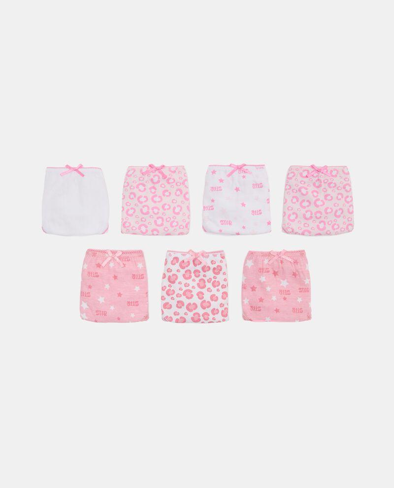 Set con 7 slip di puro cotone biologico bambina cover
