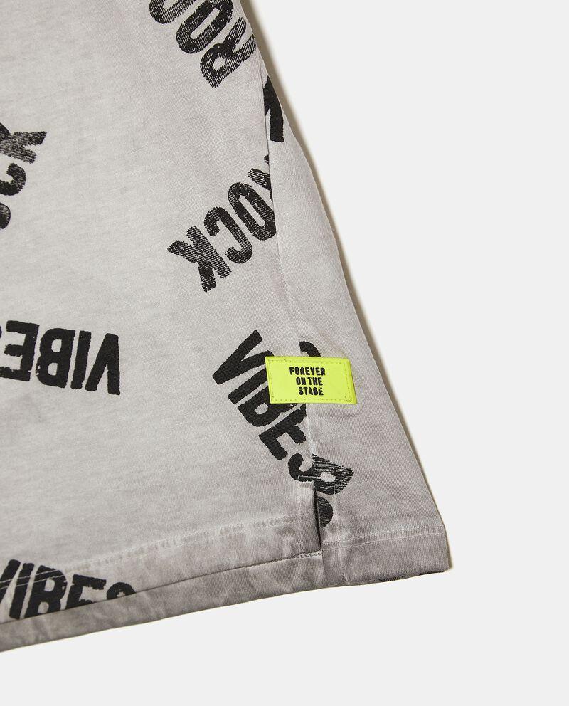 T-shirt girocollo stampata in puro cotone bambino