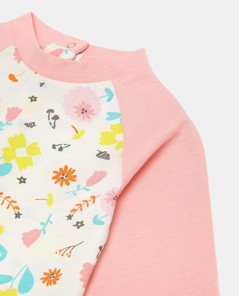 Pigiamino con fantasia floreale in puro cotone neonata