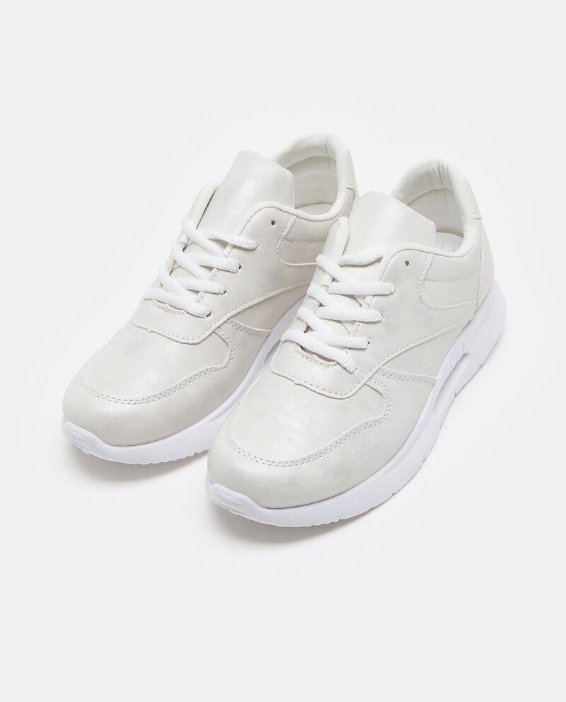 Sneakers ecopelle suola alta